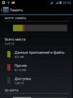 Перераспределение внутренней флеш памяти телефона